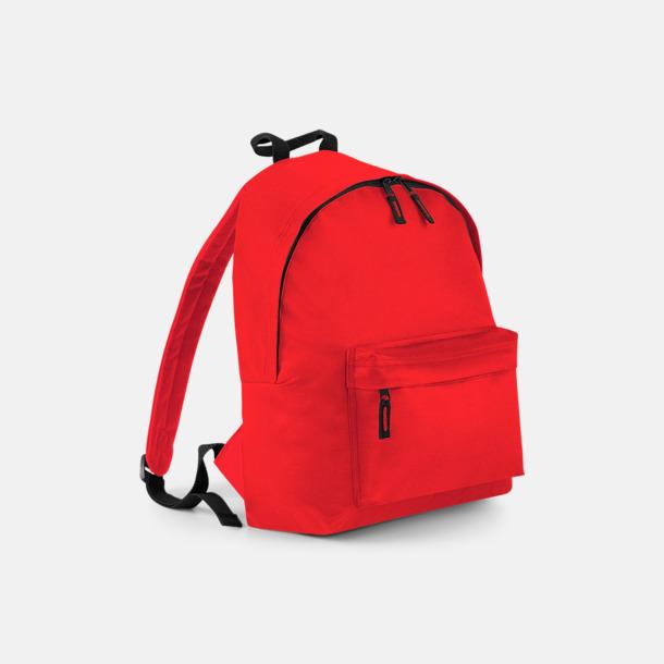 Bright Red Klassisk ryggsäck i 2 storlekar med eget tryck