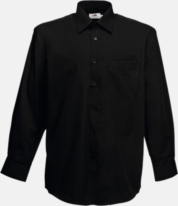 Svart Long Sleeve Poplin Shirt