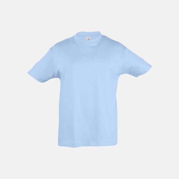 Sky Blue Billig barn t-shirts i rmånga färger med reklamtryck