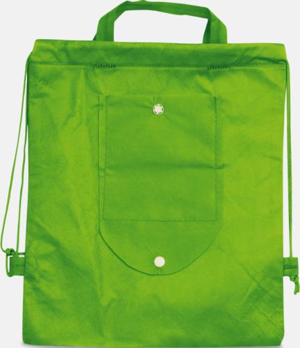 Vikbar gympapåse/ryggsäck med reklamtryck