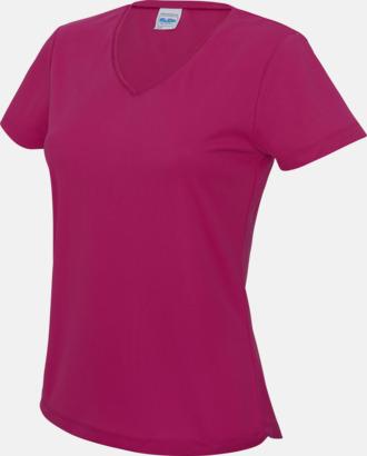 Hot Pink Damtröjor i funktionsmaterial med reklamtryck