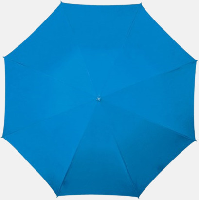 Blå Golfparaplyer med aluminium skaft - med reklamtryck