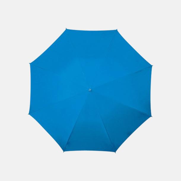 Blå (PMS 301C) Golfparaplyer med aluminium skaft - med reklamtryck