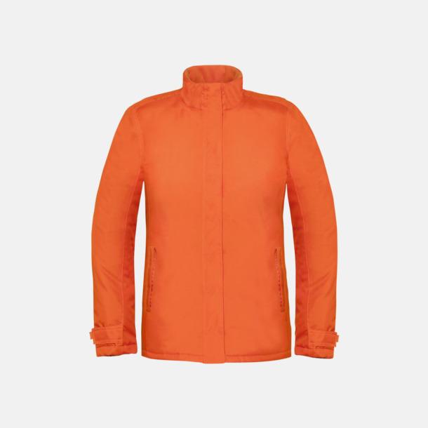 Orange (dam) Vinterparka i herr- och dammodell med reklamtryck