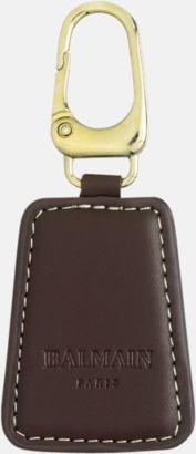 Nyckelring (brun) Exklusivt presentset från Balmain med reklamtryck