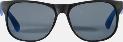 Klassiska solglasögon med bågar i kontrasterande färg - med tryck