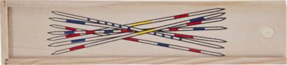 Ljust trä Plockepinn spel med reklamtryck