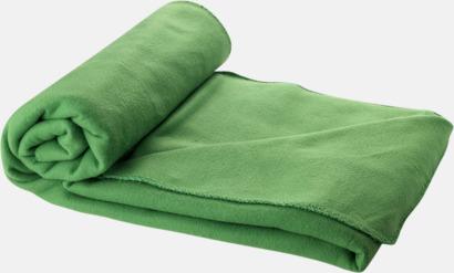 Grön Fleecefilt och bag - med tryck