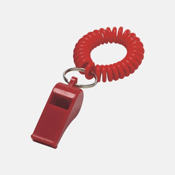 Röd Sport- och lekvisselpipor med reklamtryck