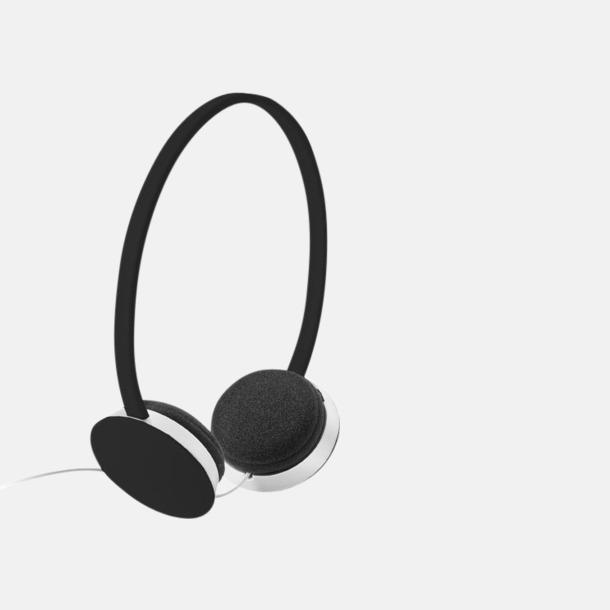 Svart On-ear hörlurar i många färger - med tryck