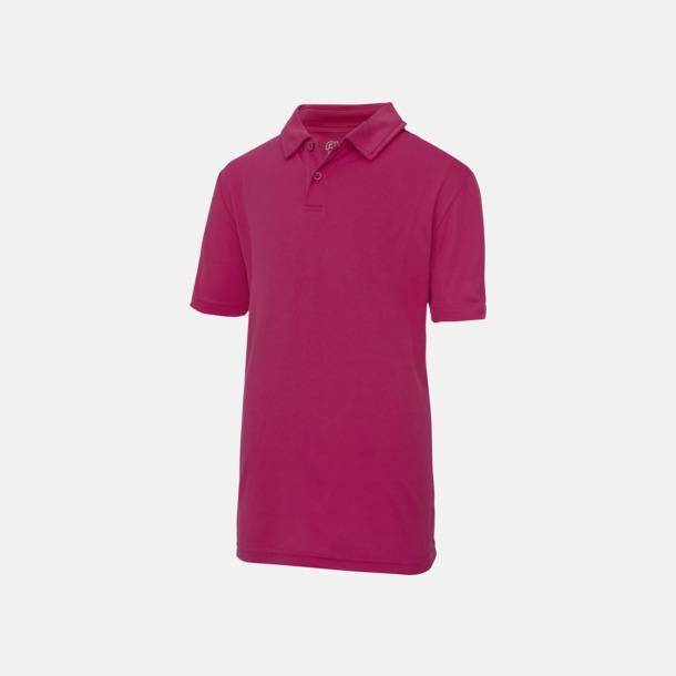 Hot Pink Barnpikétröjor i många färger - med reklamtryck
