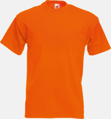 Orange Kraftig t-shirt med reklamtryck