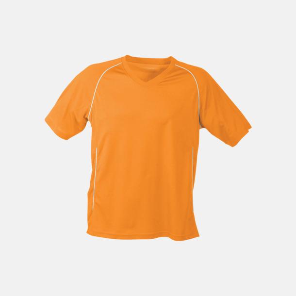 Orange T-shirt i funktionsmaterial