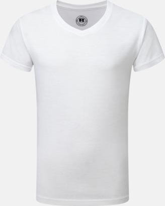 Vit (v-neck pojke) Sublimerings t-shirts i barn- & ungdomsmodell
