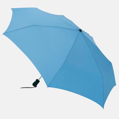 Ljusblå Basildon Kompakt - Paraplyer Med tryck