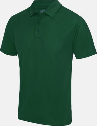 Bottle Green Färgglada pikétröjor med reklamtryck