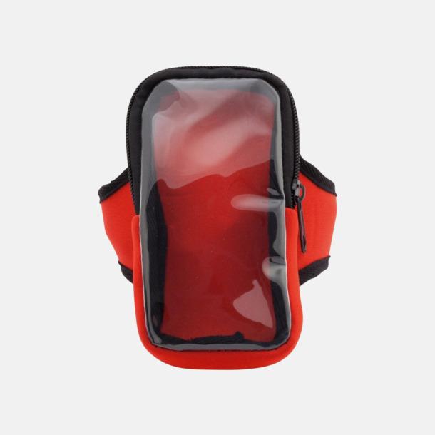 Röd Joggingarmband av softshell för mobiltelefonen med reklamtryck