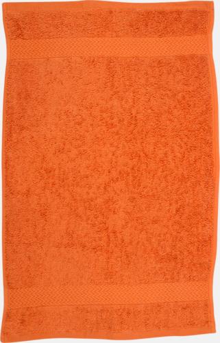 Orange Kvalitetshandduk med egen brodyr