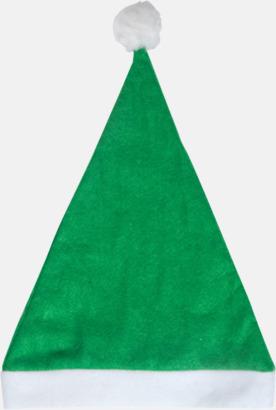 Grön Tomteluvor i många färger med reklamtryck