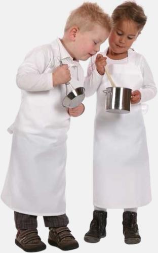 Vit Barnförkläden med sublimationstryck
