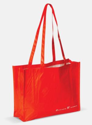 Röd Miljökasse av återvunnet material med reklamtryck
