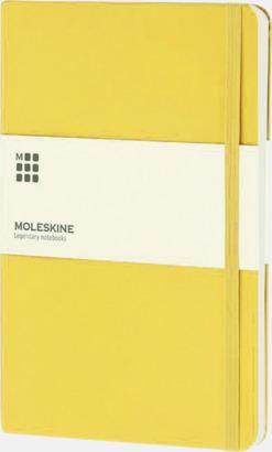 Sunflower Yellow (large) Moleskine-böcker med blanka sidor och hårt omslag - med reklamtryck