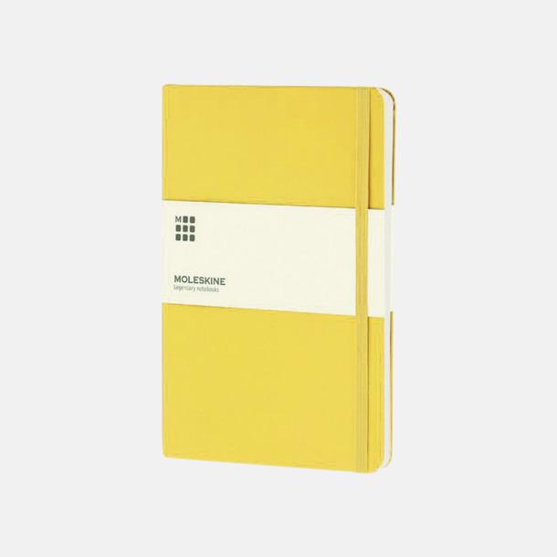 Gul (large) Moleskine-böcker med blanka sidor och hårt omslag - med reklamtryck