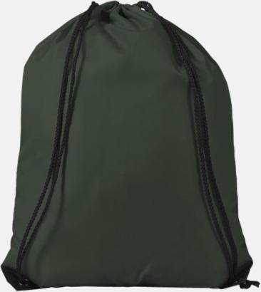 Grön (PMS 5535C) Billiga gympapåsar med reklamtryck