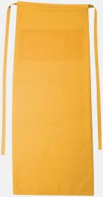Curry Långa förkläden i många färger med reklamtryck