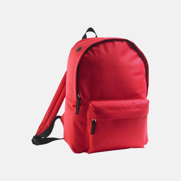 Röd Billiga ryggsäckar med ege tryck