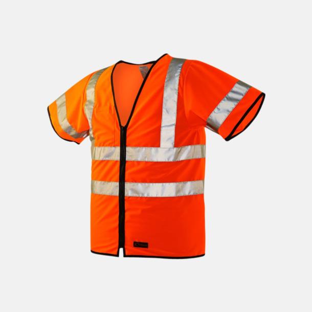 Orange Varselväst med tryck