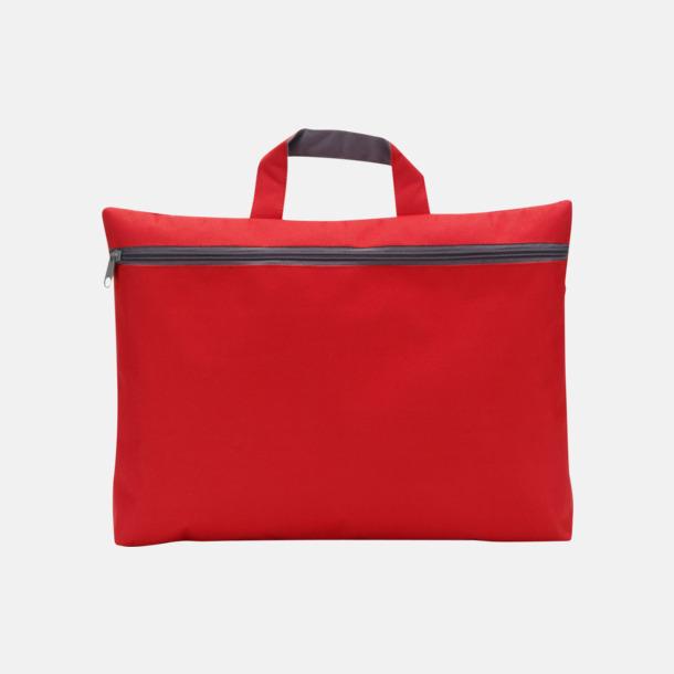 Röd Dokumentväska med tryck