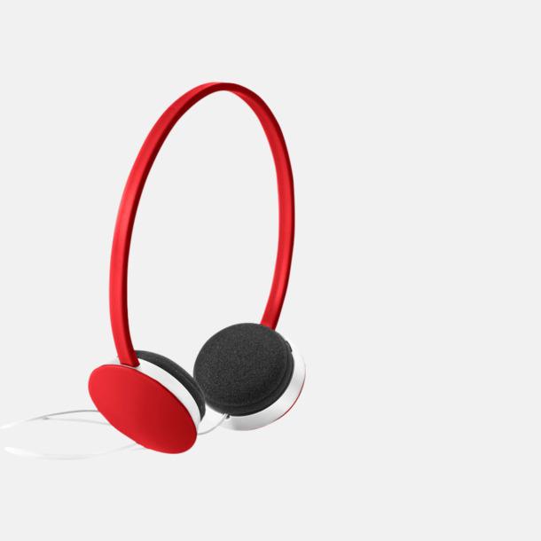 Röd On-ear hörlurar i många färger - med tryck