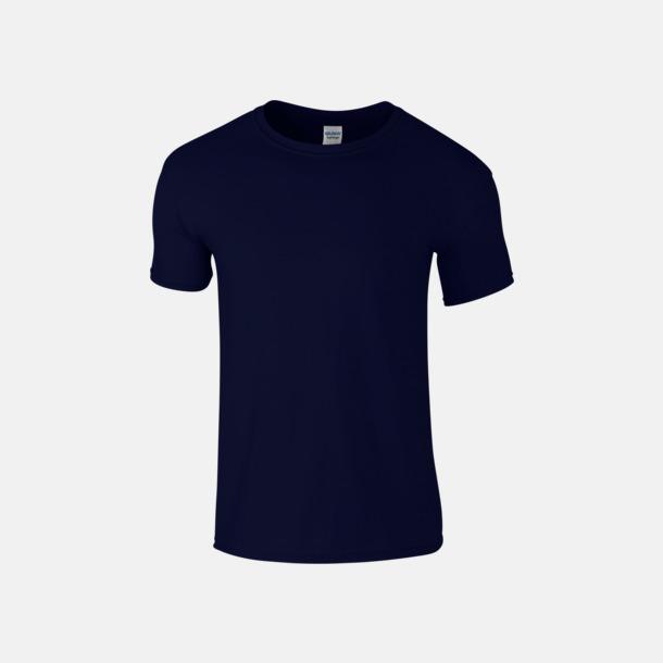 Navy Billiga t-shirts med tryck