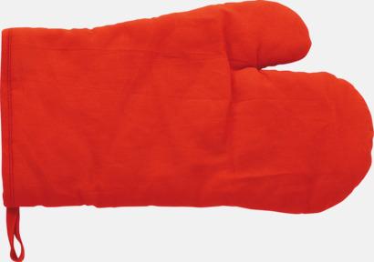 Röd Grillvantar till lågt pris - med reklamtryck