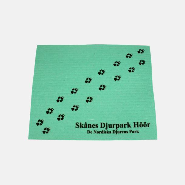 Grön Disktrasa med reklamtryck