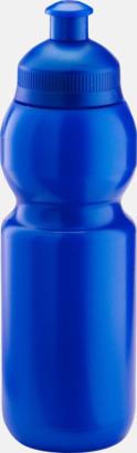 Metallic blå (300 ml) Bulb-vattenflaskor i 4 storlekar med digitaltryck