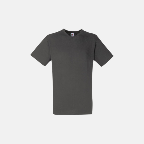 Light Graphite (solid) V-ringad t-shirt med reklamtryck