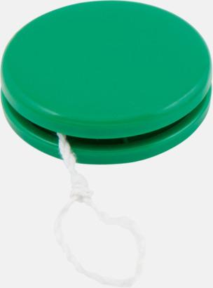 Grön Färgglada jojor i plast med reklamtryck