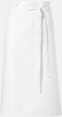 Vit Billiga, långa midjeförkläden med tryck