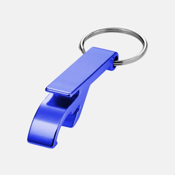 Blå Nyckelring och kloöppnare med tryck eller lasergravyr