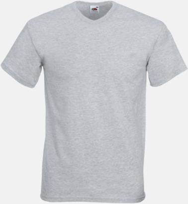 Heather Grey V-ringad t-shirt med reklamtryck