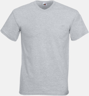 Heather Grey V-ringad t-shirt med reklamtryck