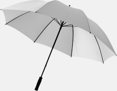 "Silver 30""-stormparaplyer med reklamtryck"