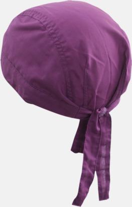 Lila (hatt) Bandanas i två varianter med reklambrodyr