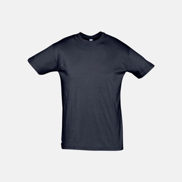 Marinblå Billiga unisex t-shirts i många färger med reklamtryck