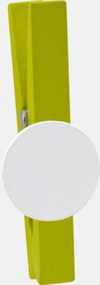 Limegrön Klädnypor med reklamtryck