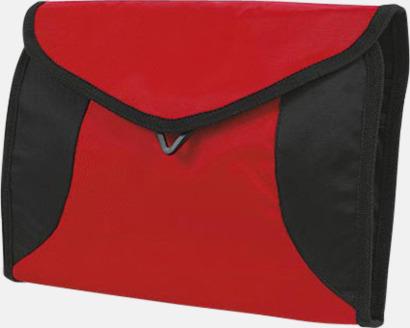 Röd Vikbara necessärer i flera färger - med reklamtryck