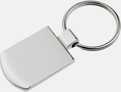 Silver Klassisk metallnyckelring med egen lasergravyr