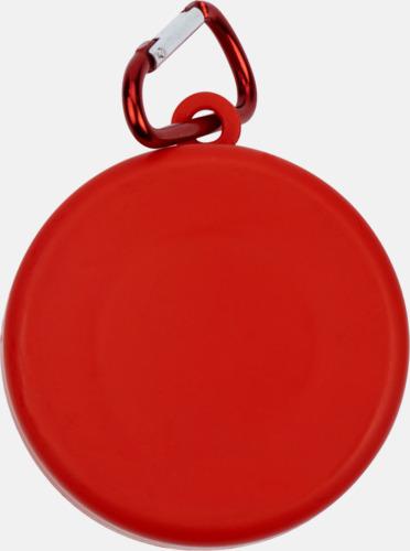 Röd Vikbara plastmuggar med eget tryck